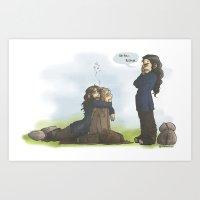 kili Art Prints featuring Kili please... by ScottyTheCat