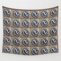 because cats Wall Tapestries featuring Cats rest by Michelle Behar