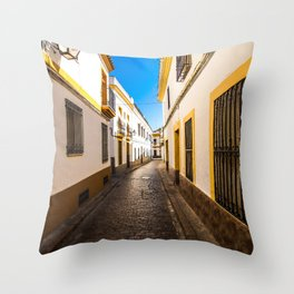 Córdoba Streets Throw Pillow