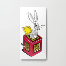 Jack rabbit in the box Metal Print