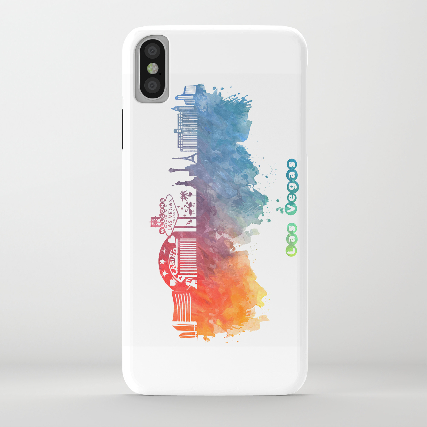 Las Vegas Nevada Skyline Colored Iphone Case By Jbjart Society6