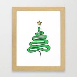 Christmas Snake Framed Art Print