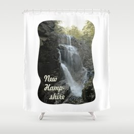 Cascade at the top of the Flume cataract, New Hampshire. Shower Curtain