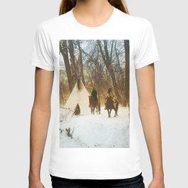 The winter camp - Crow (Apsaroke) Indians T-shirt