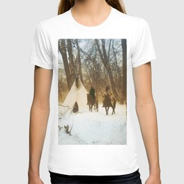 The winter camp - Crow (Apsaroke) Indians T-shirt