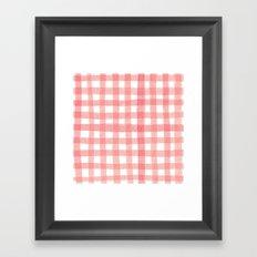 Gingham Watermelon Framed Art Print