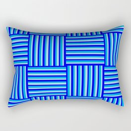 Havana Cabana - Blue Weave Stripe Rectangular Pillow