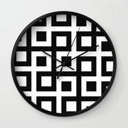 Geometric Pattern 33 (square loop) Wall Clock