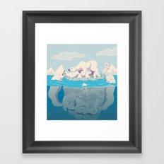 Arctic Playtime! Framed Art Print