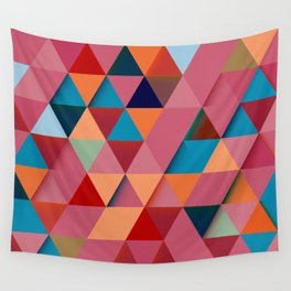 Colorfull abstract darker triangle pattern Wall Tapestry