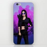 kate bishop iPhone & iPod Skins featuring Kate Bishop by Meder Taab