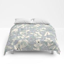 arctic polar bears silver Comforters
