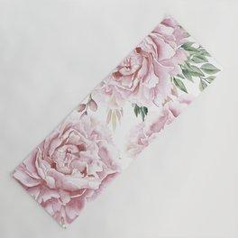 Girly Pastel Pink Roses Garden Yoga Mat