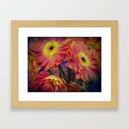 Cemented Flowers Framed Art Print