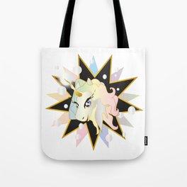 Sparkles the bubble-sneezing Unicorn Tote Bag