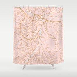 Sheffield map, England Shower Curtain