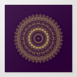 Harmony Circle of Gold on Purple Canvas Print