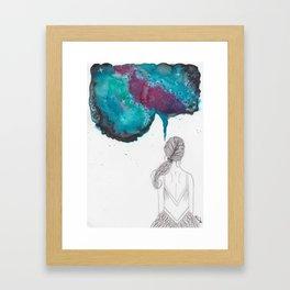 """""""A Creative Mind Never Sleeps"""" - Karla Leigh Wood Framed Art Print"""