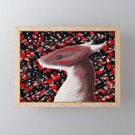 Maroon Dragon Framed Mini Art Print