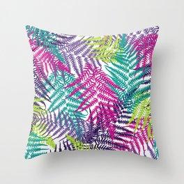Fern frond seamless pattern Throw Pillow