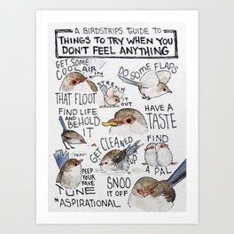 Bird no. 202: Pick-you-ups Art Print