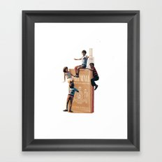The Cigarette Gang Framed Art Print