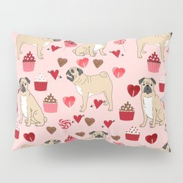 Pug valentines day cupcakes love hearts dog breed pure breed pugs Pillow Sham