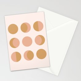 Moon Phases Blush Stationery Cards