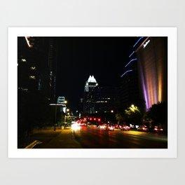The City Lights of Austin Art Print