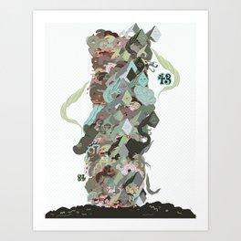 Garbage Pile Art Print