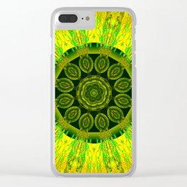 Lemon Lime Mandala Clear iPhone Case