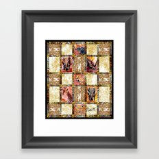 Quilted African Life. Framed Art Print