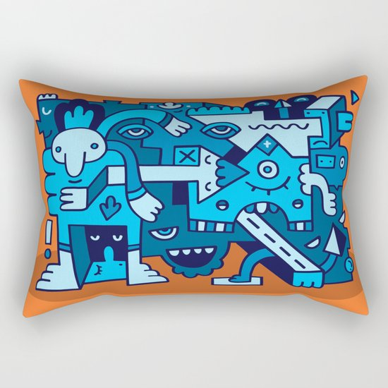 Acidic Auntie Ange Rectangular Pillow