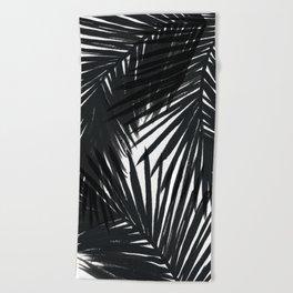 Palms Black Beach Towel