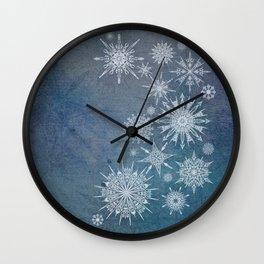Snowflake Bouquet Wall Clock