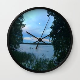 by the river • nature photography Wall Clock