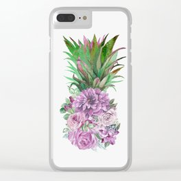 Floral Pineapple 1 Clear iPhone Case