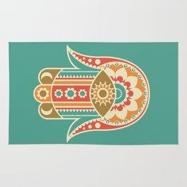 Colorful Hamsa Hand Rug