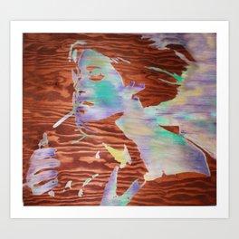 1000 cigarettes  Art Print