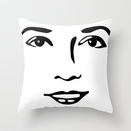 Silent Stars - Mary Pickford Throw Pillow