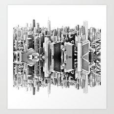Mirror City Art Print