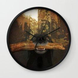 Playful Labrador Wall Clock