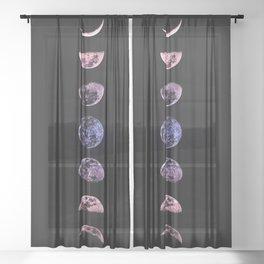 Ultraviolet Moon Sheer Curtain