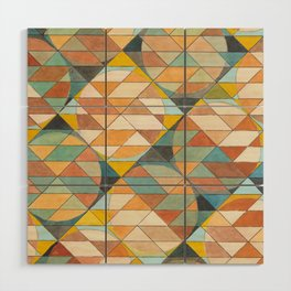 Triangles and Circles Pattern no.23 Wood Wall Art
