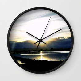 """""""Day Ending. Passion Beginning."""" Wall Clock"""