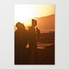 Skater at Sunset, 2012 Canvas Print