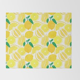 Lemon Harvest Throw Blanket