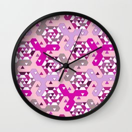 Geometric Mozaik (pink) Wall Clock