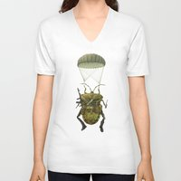 military V-neck T-shirts featuring Military by Tanya_tk