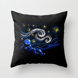 Starry Night Gravity Throw Pillow